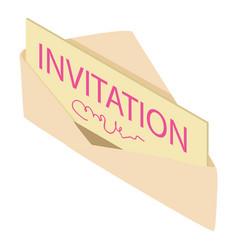 invitation icon isometric style vector image