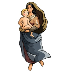 Madonna with child vector