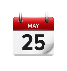 May 25 flat daily calendar icon Date vector