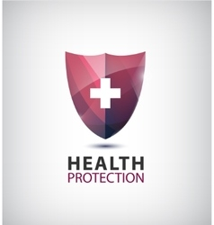 Medical logo health protection shield with vector