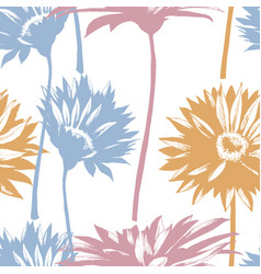 Modern floral seamless pattern daisy flowers vector