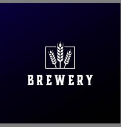 Modern malt for ale beer brewery logo design vector