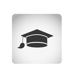 Monochrome square frame with silhouette graduation vector