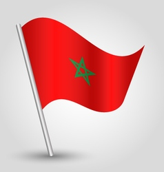moroccan flag on pole vector image