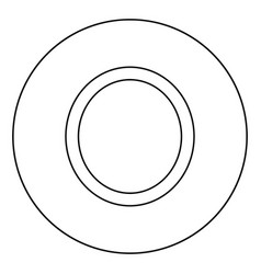 Omicron greek symbol capital letter uppercase vector