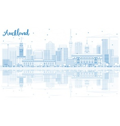 Outline Auckland Skyline vector