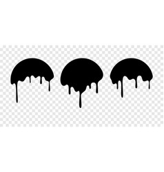 Paint drip stickers or circle labels vector
