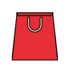 paper bag red vector image