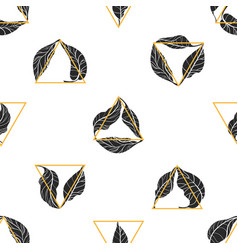 Pattern leaf triangle vector