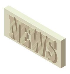 Periodic news icon isometric style vector