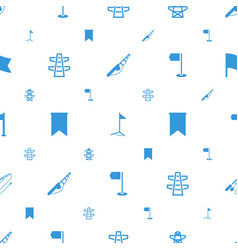 pole icons pattern seamless white background vector image