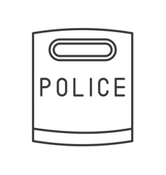 Police riot shield icon editable stroke outline vector