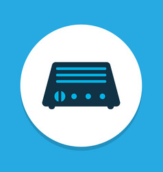 Radio icon colored symbol premium quality vector