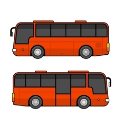 Red Bus Template Set on White Background vector image
