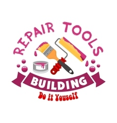 Repair work tools sign vector