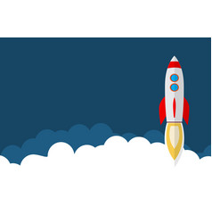 rocket ship in a flat style space travel vector image