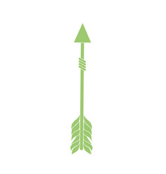 rustic arrow with ornamental design vector image