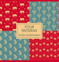 Seamless pattern rosh hashanah shana tova vector