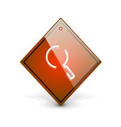 Search magnifyier web button magnify icon modern vector