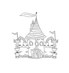 Sketchy castle vector