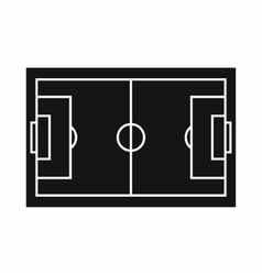 Soccer field icon in simple style vector