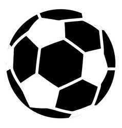 soccer icon simple black style vector image