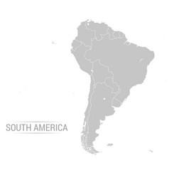 South america grey map vector