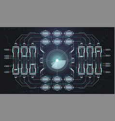 spacecraft control panel dashboard in hud style vector image