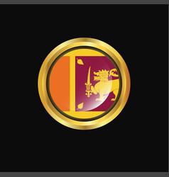 sri lanka flag golden button vector image