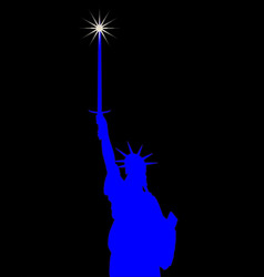 Statue liberty holding a broadsword vector