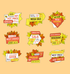 thanksgiving week offer labels set exclusive price vector image