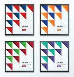 Triangle pattern design 2 color set vector