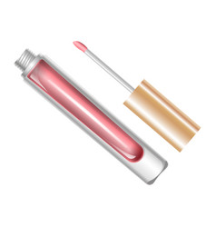 Tube with lip gloss vector