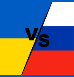 ukraine and russia flags vector image
