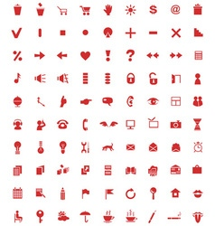 Universal icons on white vector