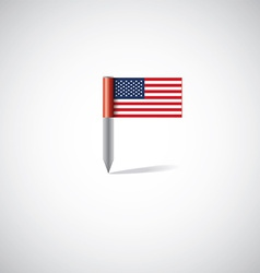 Usa flag pin vector