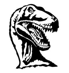 Velociraptor detailed black and white vector