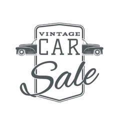 Vintage classic car sale label template vector image