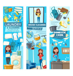 women cleaners cleaning service doing housework vector image