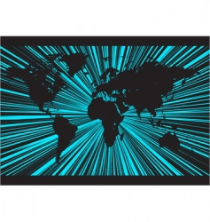 world rays background vector image