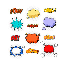 Replicas in form of clouds bubble speeches vector