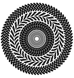 tire track brush seamless border circle vector image