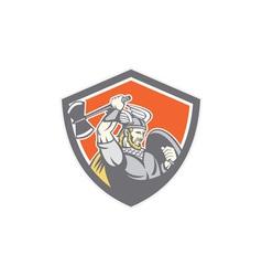 Viking Raider Barbarian Warrior Axe Shield vector image