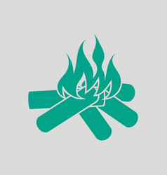 camping fire icon vector image