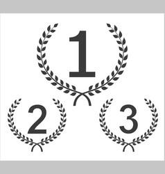 cilcular winner emblems vector image vector image