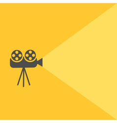 Cinema projector with light Flat design vector image vector image