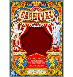 Circus carnival theme vintage 2d aurielaki vector