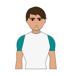 color image cartoon man with atlethic body vector image vector image