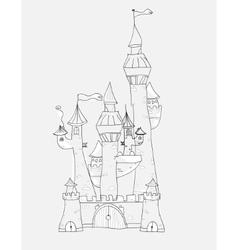 Sketchy Castle vector image vector image