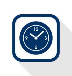 time flat icon vector image vector image